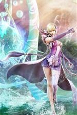 Mädchen Zauberer magische Wasser
