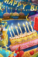 Preview iPhone wallpaper Happy Birthday