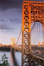 Preview iPhone wallpaper Iron Bridge under the sun