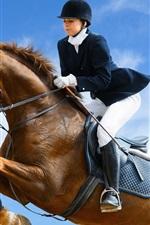 Jockey horse jump