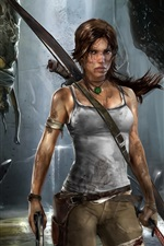 Preview iPhone wallpaper Lara Croft in Tomb Raider 9 wide