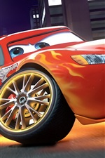 Preview iPhone wallpaper Lightning McQueen in Cars 2