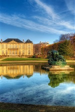 Preview iPhone wallpaper Paris france manor house sky