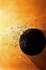 Preview iPhone wallpaper Planet explosion destruction