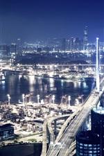 Porto da cidade à noite