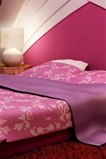 Preview iPhone wallpaper Purple style bedroom