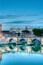 Preview iPhone wallpaper Rome, Italy Tiber River and Castel Sant'Angelo