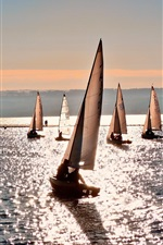 Sea water sailboat summer