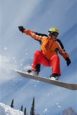 Preview iPhone wallpaper Snow mountain snowboard sport