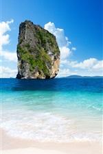 미리보기 iPhone 배경 화면 해안 근처 스톤 마운틴