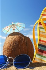 Preview iPhone wallpaper Summer beach holiday coconut