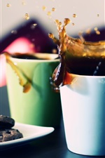 Preview iPhone wallpaper Two cups of tea splash