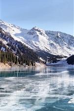 Preview iPhone wallpaper Almaty winter lake
