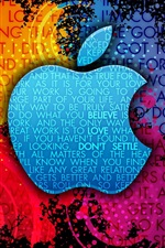 Preview iPhone wallpaper Apple Colorful background creative logo