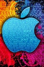미리보기 iPhone 배경 화면 애플 다채로운 배경 크리에이 티브 로고