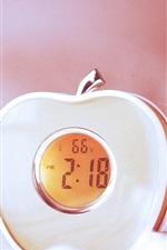 Preview iPhone wallpaper Beautiful apple clock