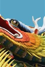 Dragão chinês edifício