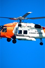 Preview iPhone wallpaper Coast Guard helicopter