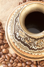 Preview iPhone wallpaper Coffee drinks and coffee beans