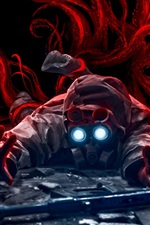 Preview iPhone wallpaper Fantasy art gas mask man