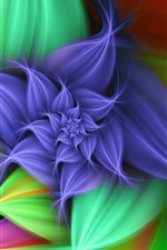 Flower graphics abstract