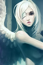 Preview iPhone wallpaper Girl art angel wings
