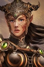 Preview iPhone wallpaper Girl elf knight warrior armor