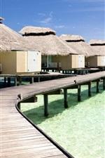 Casas oceano de água resort de verão tropical