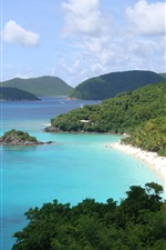 Preview iPhone wallpaper Island shore of the beach