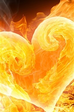 Preview iPhone wallpaper Love is a fire