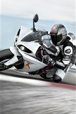 Preview iPhone wallpaper Motorcycle driving fast