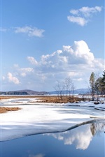Preview iPhone wallpaper Nature landscape snow winter lake water