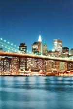 Iluminação noturna da ponte