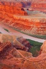 Preview iPhone wallpaper Red desert rocks landscape
