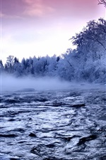 Preview iPhone wallpaper River winter snow