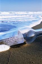 Mar garrafa deriva praia