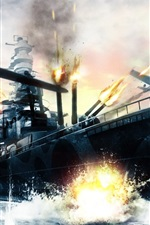 Preview iPhone wallpaper Sea ship war planes