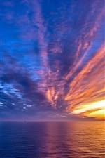 Preview iPhone wallpaper Sea sunset sky
