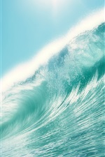 Preview iPhone wallpaper Sea wave water
