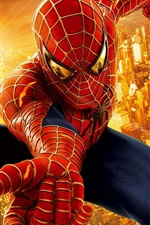 Preview iPhone wallpaper Spider-Man in the city