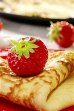 Preview iPhone wallpaper Strawberry pancake