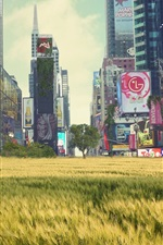 Preview iPhone wallpaper The lush grass of Times Square