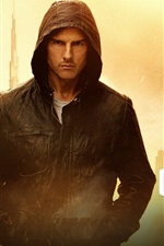 Preview iPhone wallpaper Tom Cruise in Mission Impossible - Ghost Protocol