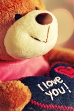Preview iPhone wallpaper Toy teddy bear heart