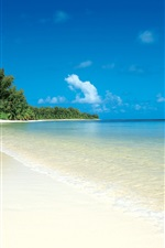 미리보기 iPhone 배경 화면 열대 바다와 해변