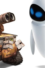 Preview iPhone wallpaper WALL-E robot Valli and Eve friendship