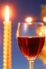 Preview iPhone wallpaper Warm candlelight and delicious wines