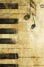 Preview iPhone wallpaper Wonderful piano music notation