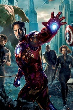 Preview iPhone wallpaper 2012 The Avengers movie HD