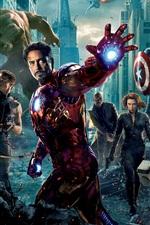 Vorschau des iPhone Hintergrundbilder 2012 The Avengers Film HD